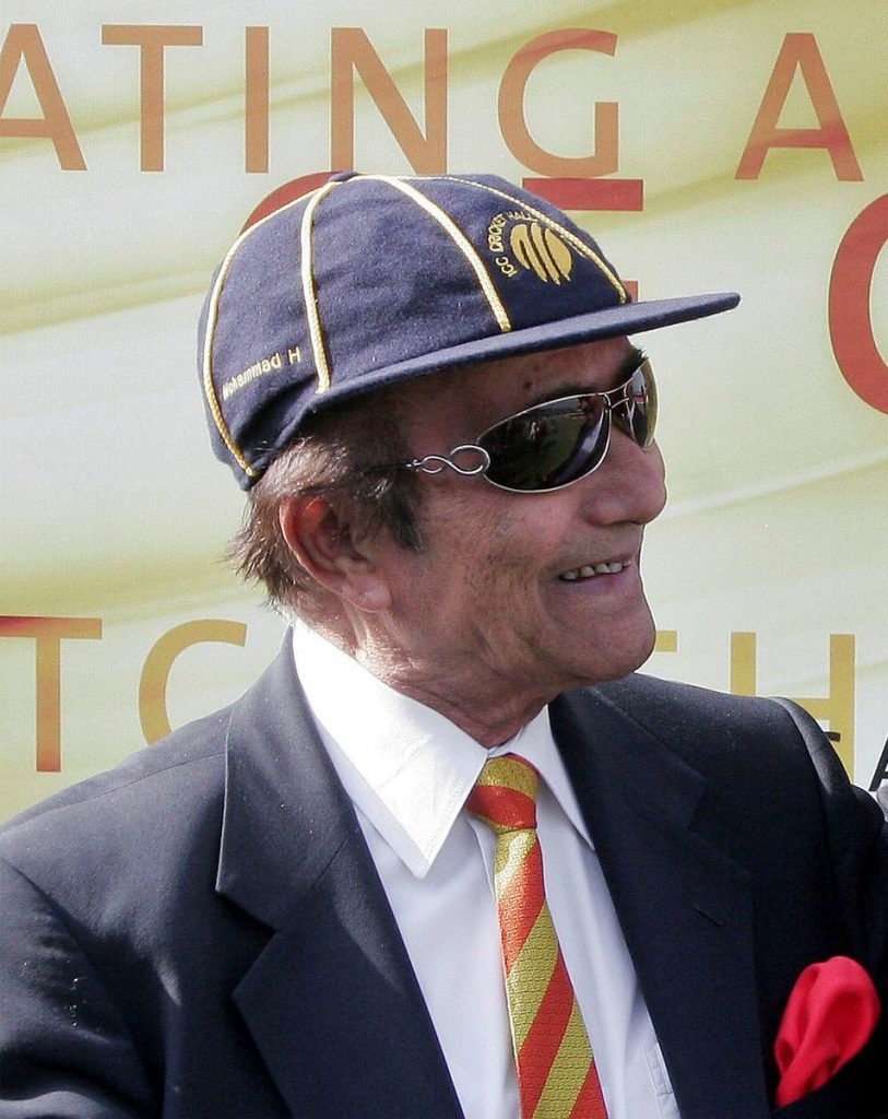 Hanif Mohammad with ICC hall of fame cap