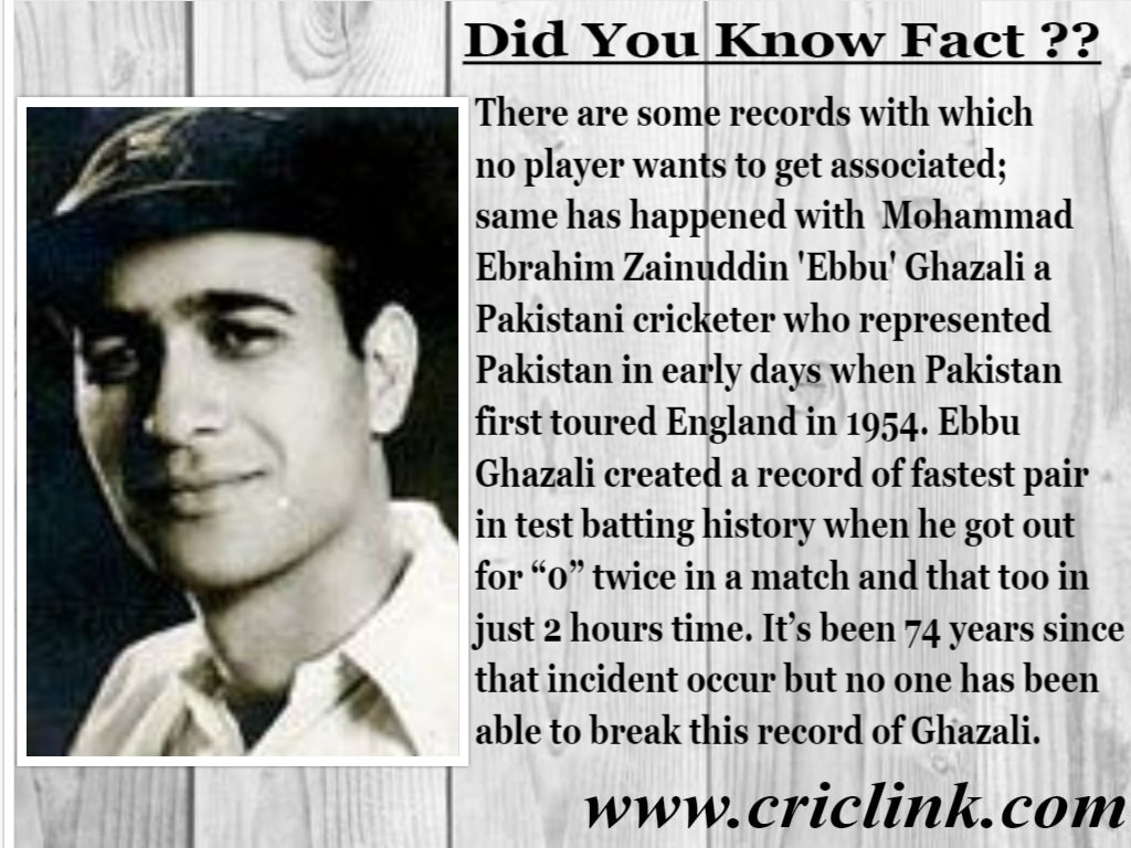 fastest pair in test cricket history - Did You Know Fact