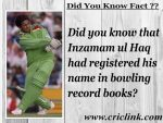 Did you know about the bowling record made by Inzamam ul Haq ?