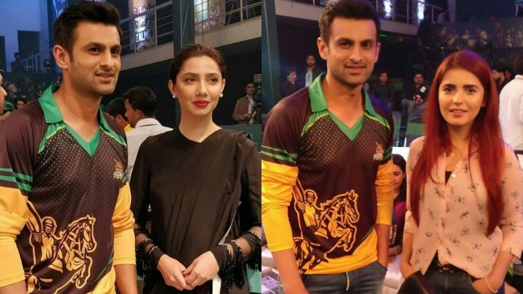 Mahira, Momina and Shoaib in PSL
