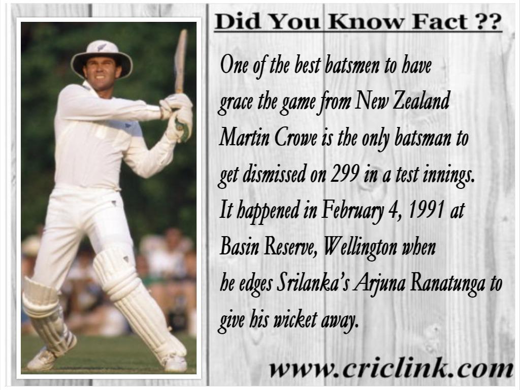 Martin Crowe - Fact Corner Criclink