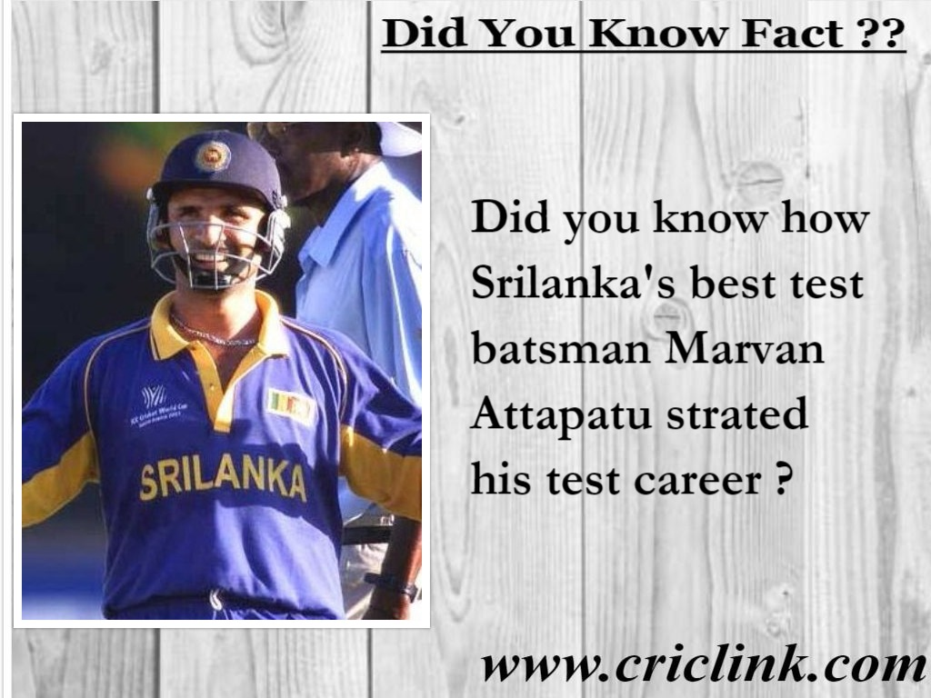 Marvan Attapatu - Criclink