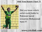 Did you know what awful feat associated with Mohammad Sami?
