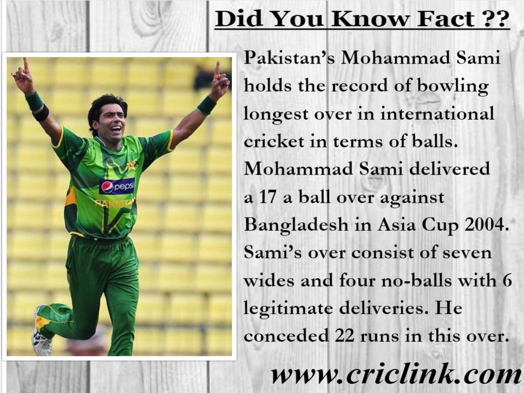 Mohammad Sami - Fact Corner Criclink