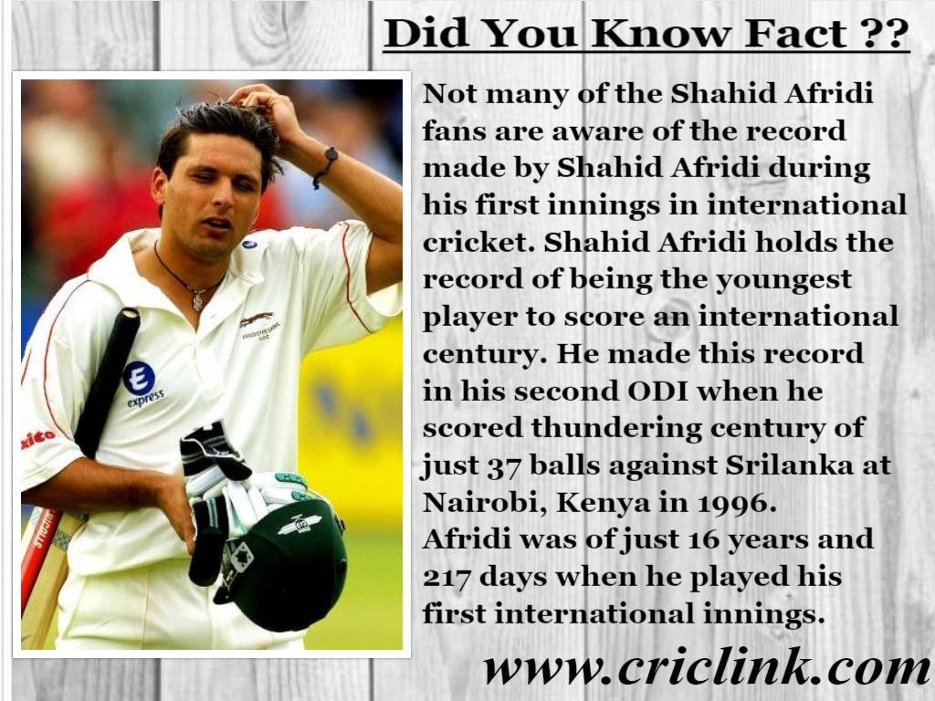 Shahid Afridi - Criclink