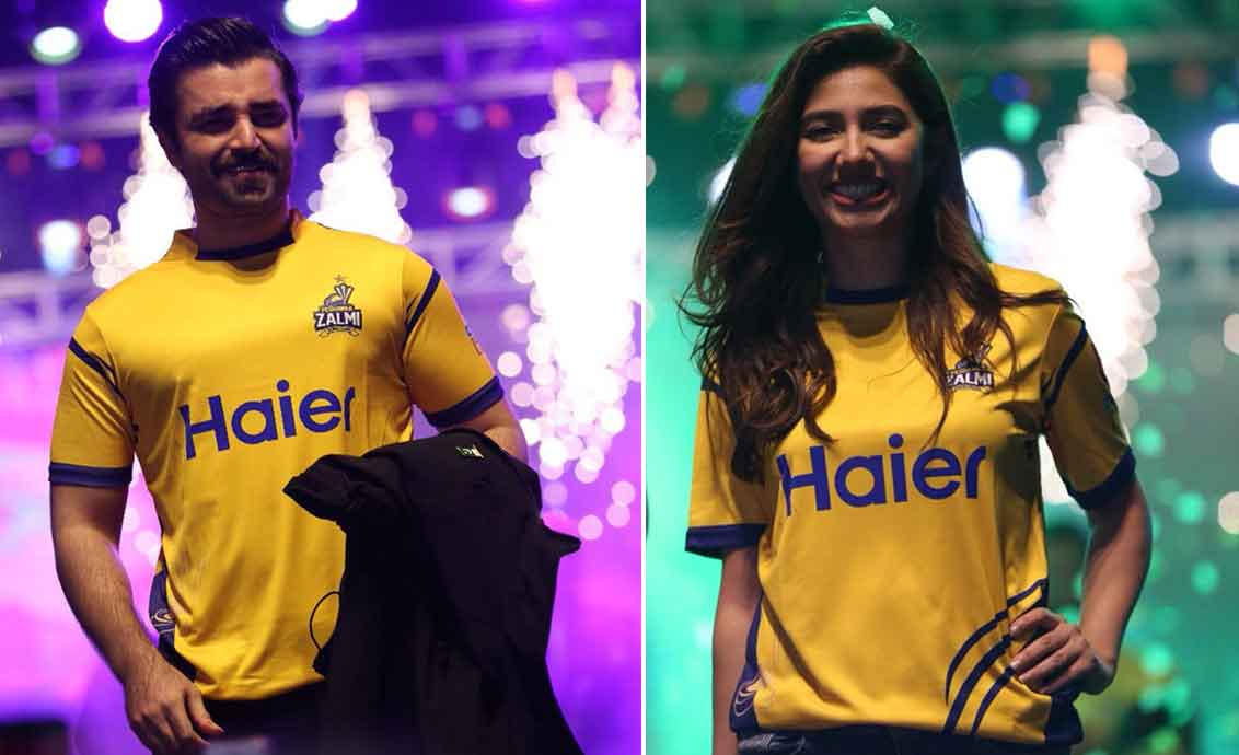 Mahira and Hamza supporting Zalmi
