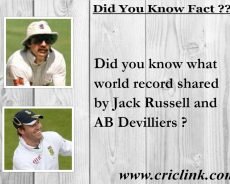 Did you know world record shared by Russell and Devilliers ?
