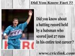 Did you know about the batting record made by Geoff Allot ?