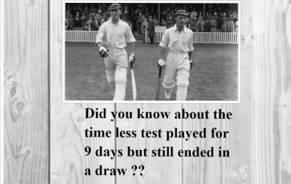 Timeless test match between England & South Africa 1939