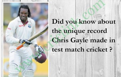 Did you know about Chris Gayle unique record in test Matches ?