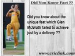 Glen Mcgrath failed to achieve a unique feat by one delivery ?