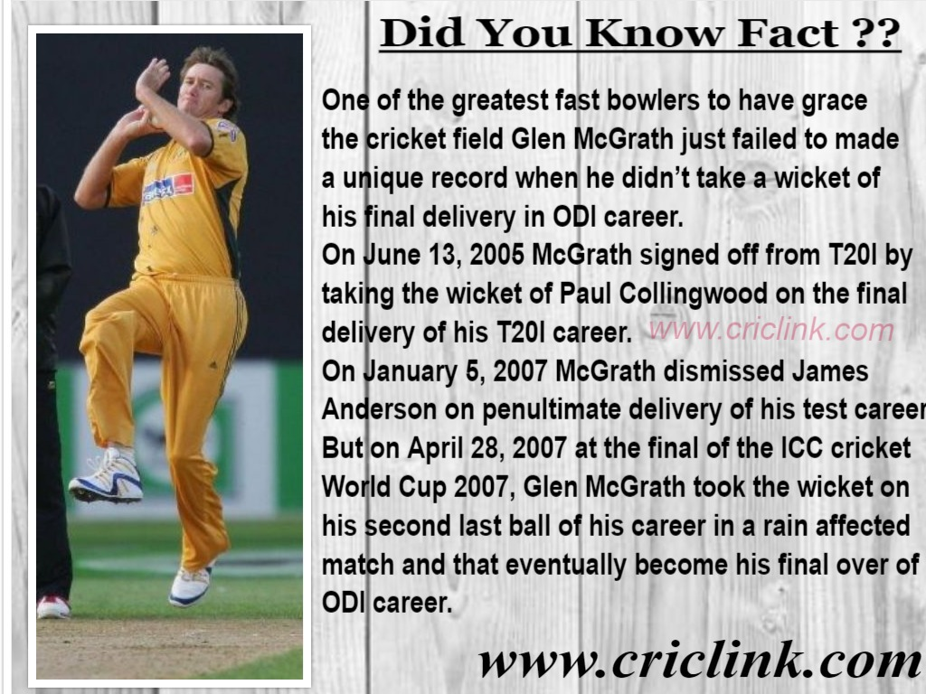 Glen McGrath - criclink.com
