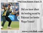 Did you know about the bowling record of Waqar Younis ??