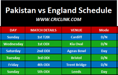 Pakistan Tour of England 2019