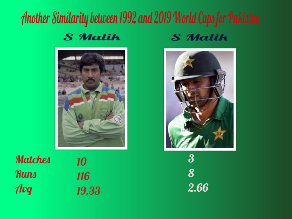Another Similarity Between 1992 & 2019 World Cup for Pakistan