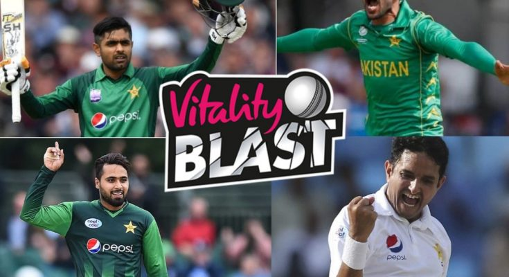 Pakistani Players in Vitality Blast 2019
