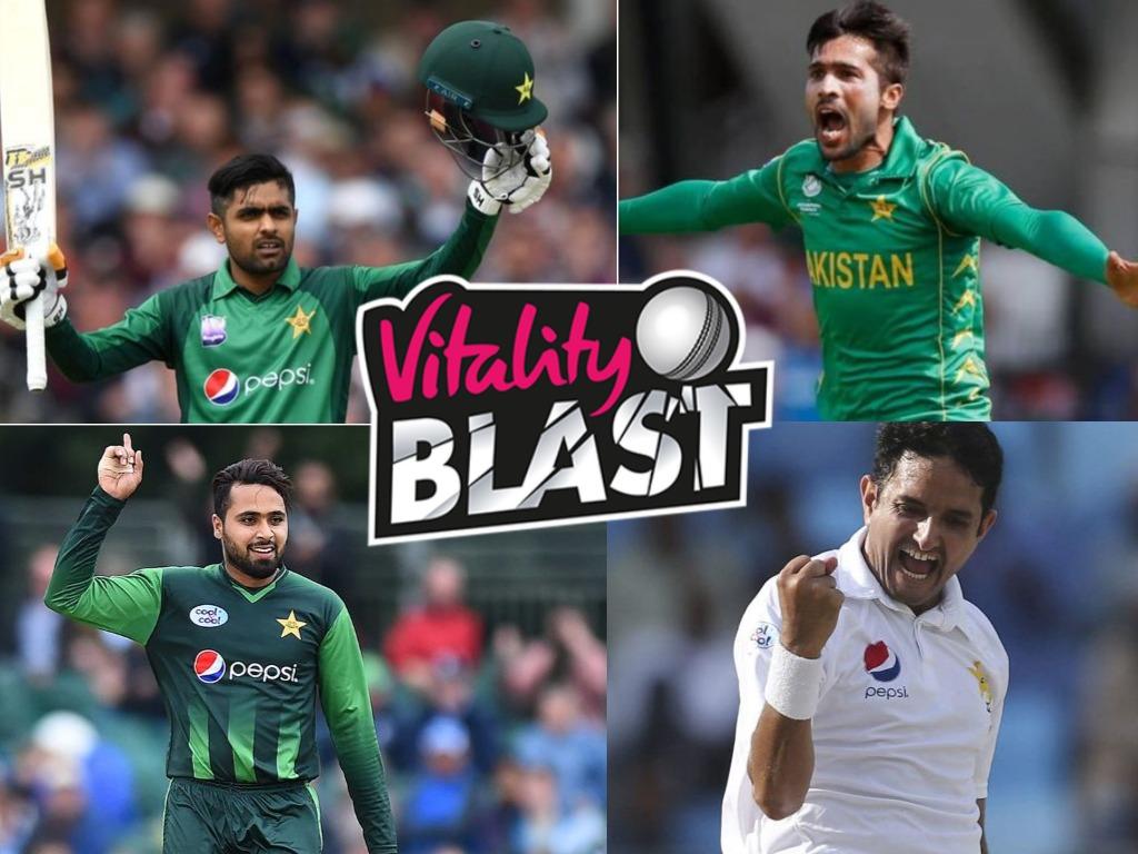 Pakistani Players in Vitality Blast 2019