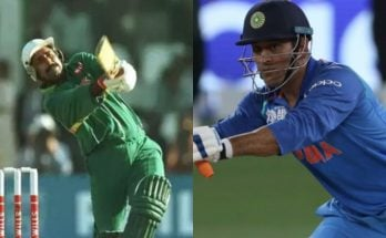 imilarity Pakistan's Javed Miandad and India's Mahendra Singh Dhoni