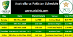 Pakistan tour of Australia 2019, Schedule and Pakistan Test Record in Australia