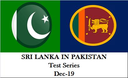 ri Lanka Tour of Pakistan Test Series 2019