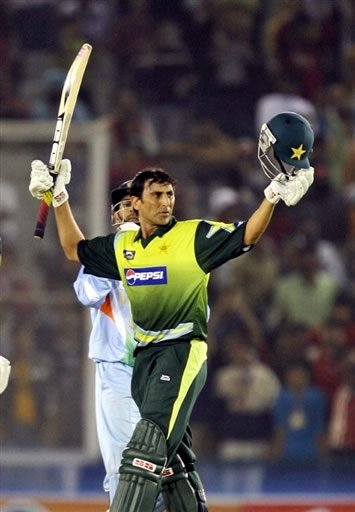 Younis Khan after Century Against India in an ODI