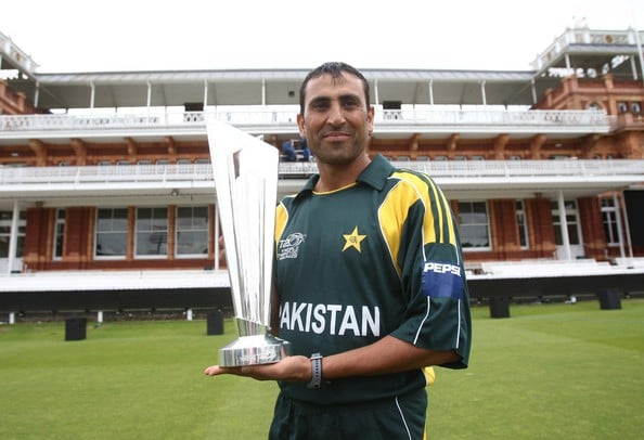 Younis Khan With ICC World T20 Trophy 2009