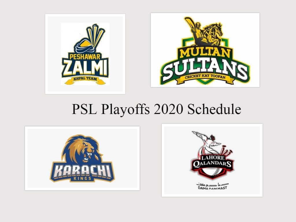 PSL Playoff 2020 Schedule