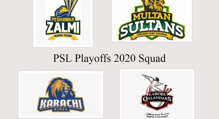 PSL 2020 updated squad list