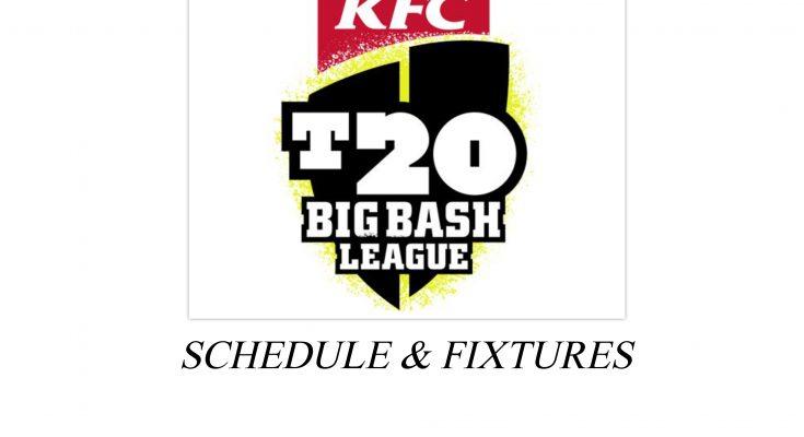 Big bash League 2020 Schedule