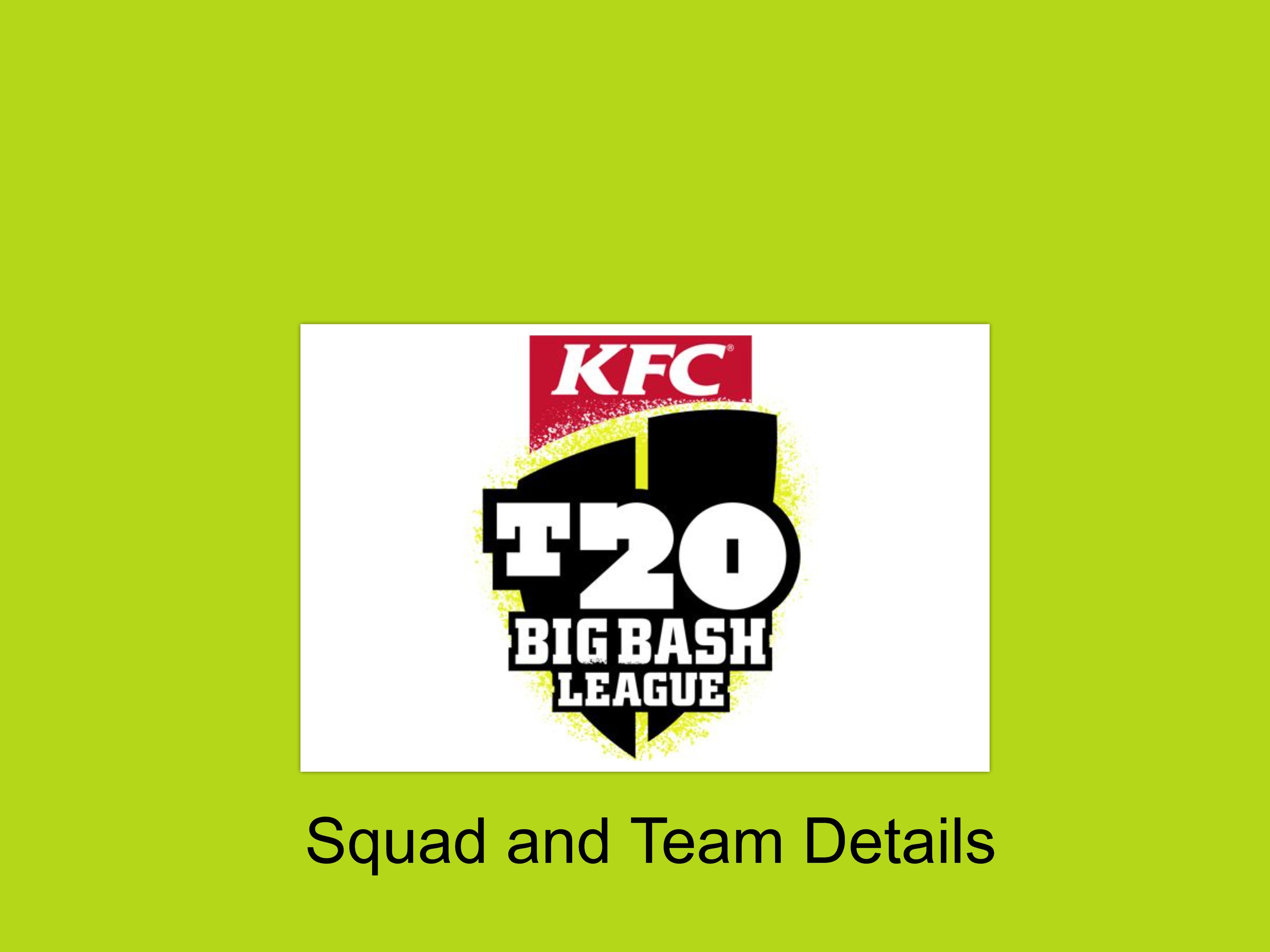 Big Bash League 2020 Squads & Player List