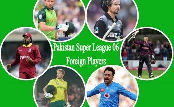 Pakistan Super League 6 foreign players