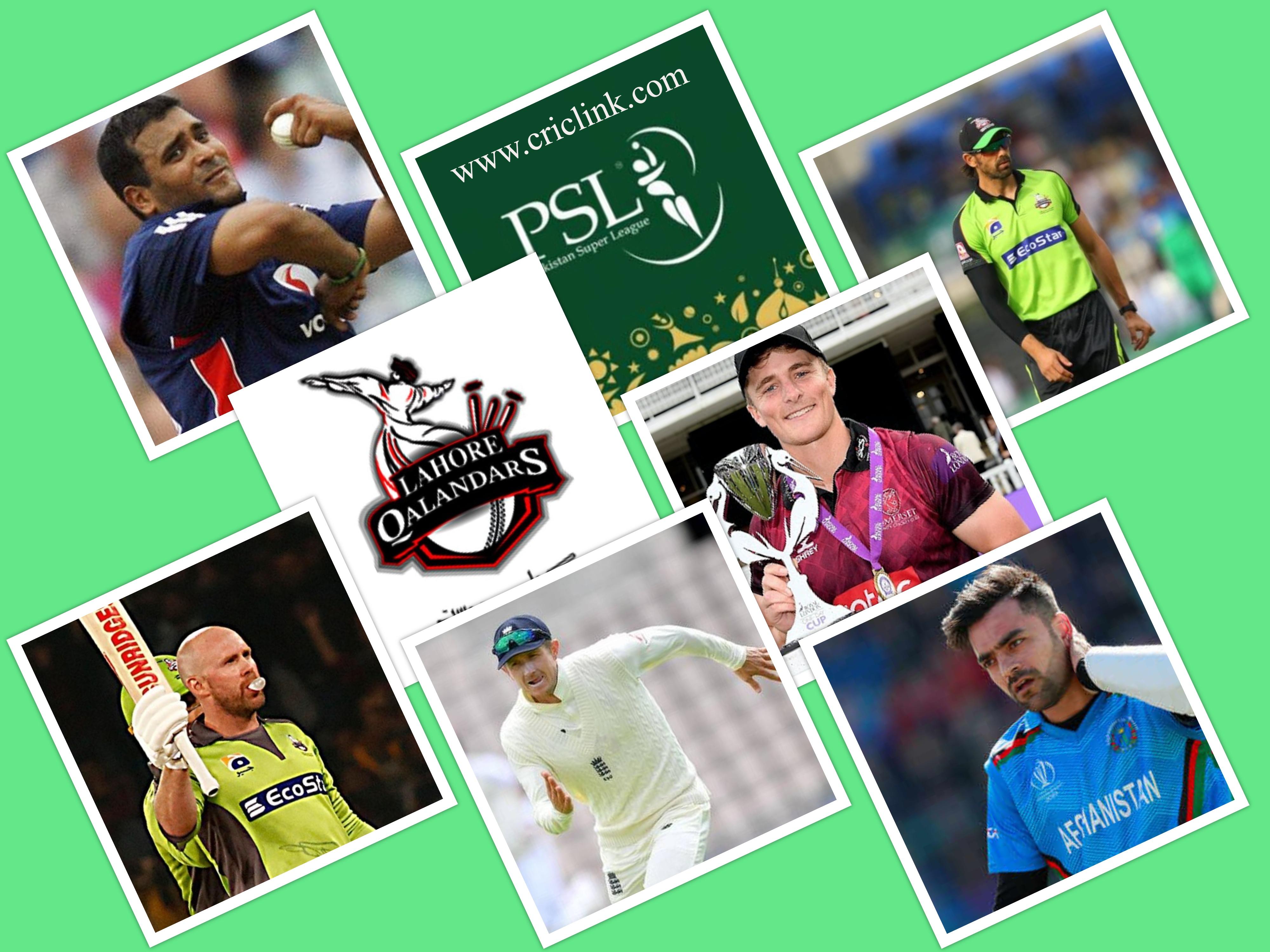 Lahore Qalandar Overseas Players 2021