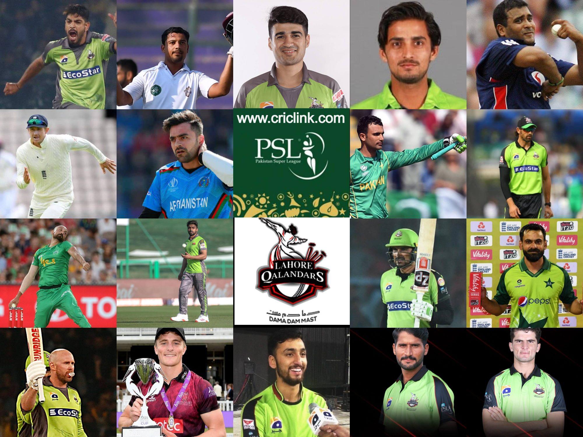 Lahore Qalandars Squad 2021