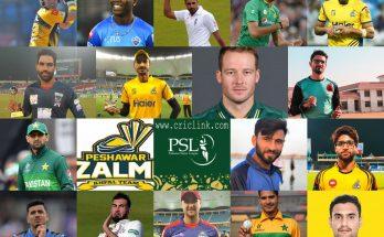 Peshawar Zalmi Squad 2021