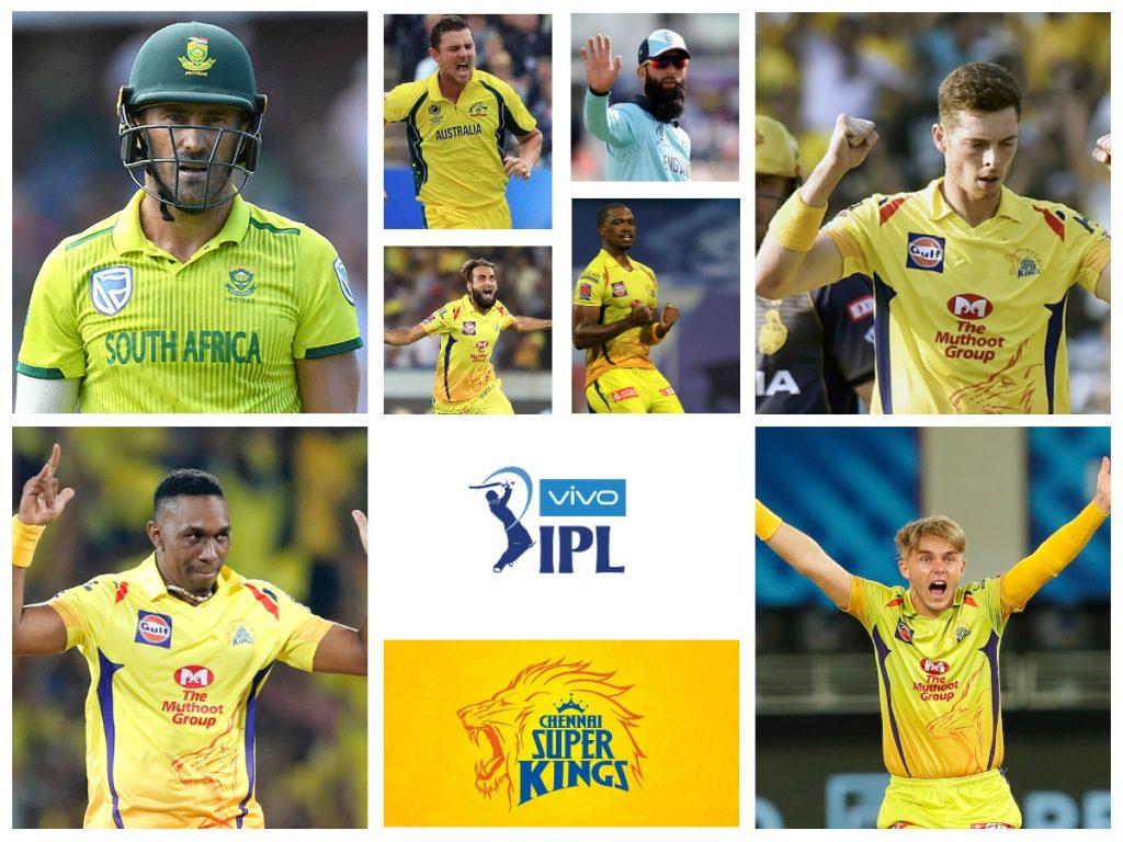 Chennai Super Kings 2021International Players