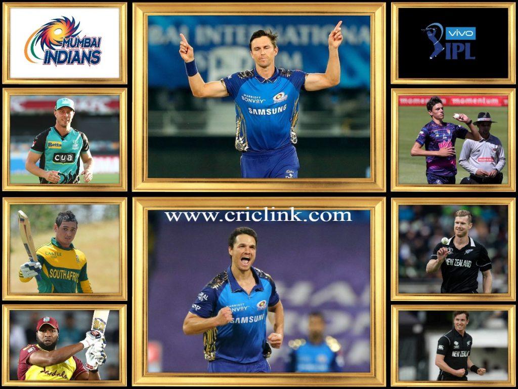 Mumbai Indians Oversease Players 2021