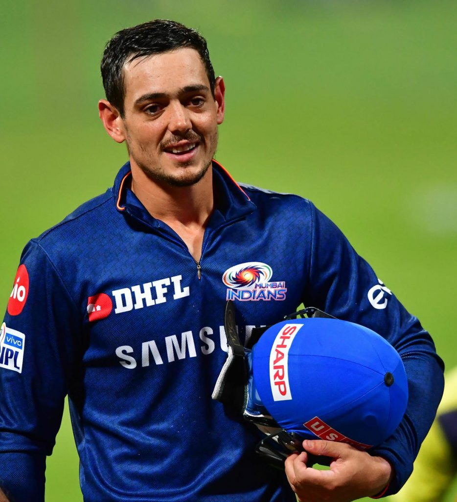Quinton De Kock was retained by Mumbai Indians
