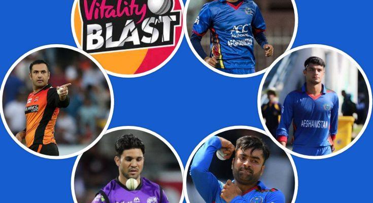 Afghanistan Cricketers in Vitality Blast 2021 (