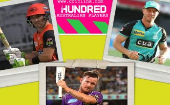 Australia Cricketers in Hundred Cricket
